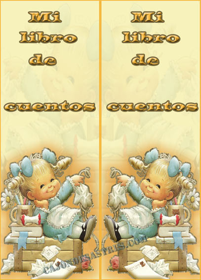 La tarjeta infantil, está hecha de igual forma, tan sólo a la imagen