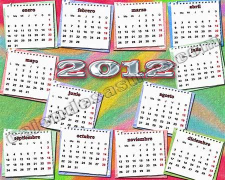 Calendario 2012 Gratis Descargar