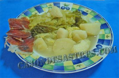 receta repollo con patatas