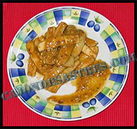 receta de calamares en salsa de almendras