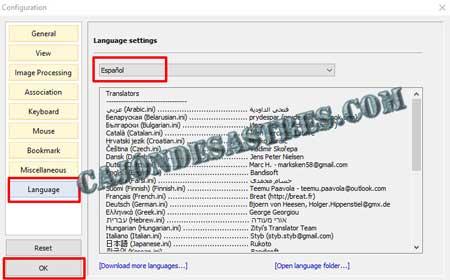 configuracion Visor de imagenes gratis