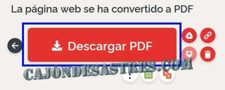 HTML a PDF web a PDF