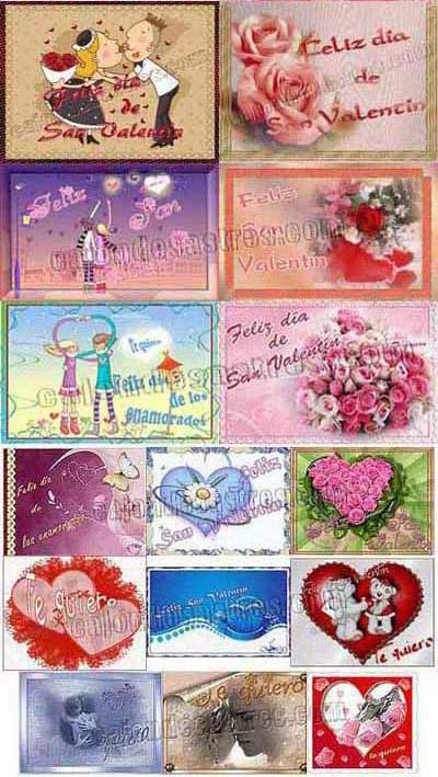 Recopilatorio de Tarjetas Dia de los enamorados Gratis para descargar