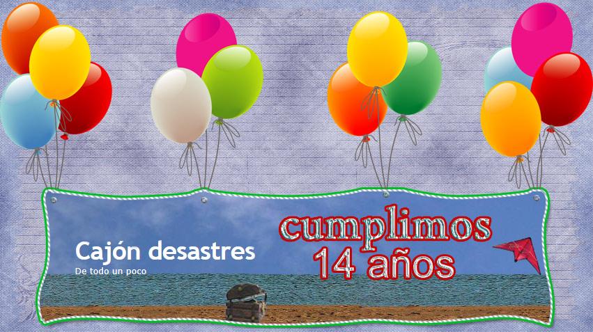 tarjeta felicitacion cajon desastres aniversario