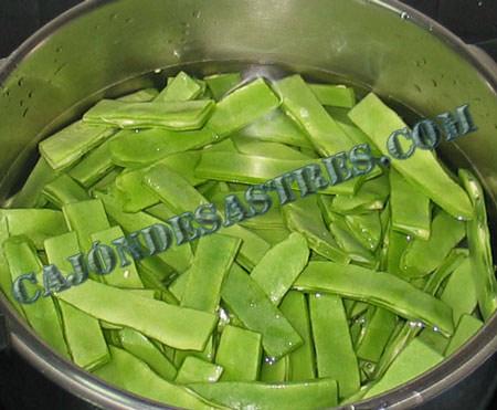 Receta judias verdes con pollo y especias