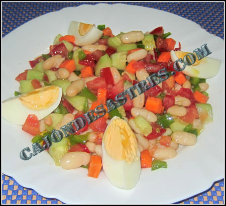 Ensalada de alubias con pepino
