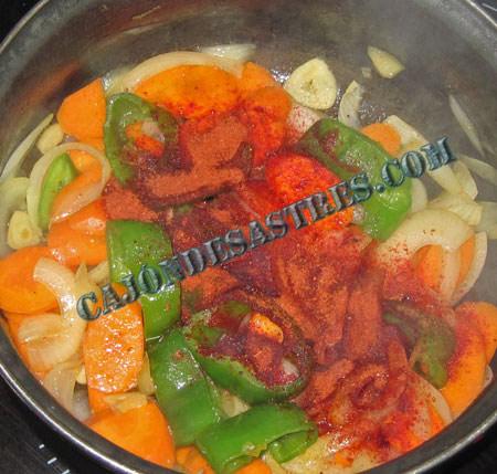 Receta de Merluza en salsa de zanahorias y Tandoori Masala especias