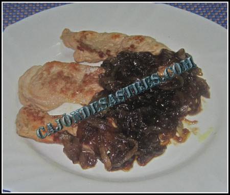 Receta de solomillo con cebolla caramelizada agridulce