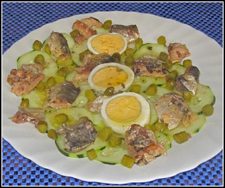 Receta Carpaccio de pepino con sardinas en lata