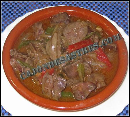 Receta de higados de pollo en salsa